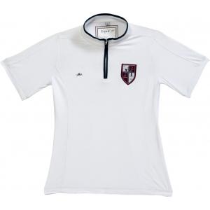 EQUITHÈME, kurzärmeliges Turnier Poloshirt mit Reißverschluss