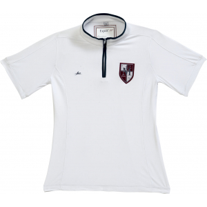 EQUITHÈME Zipped competition polo shirt, short sleeves