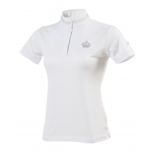 "EQUITHÈME ""Couronne"" polo shirt, short sleeves"