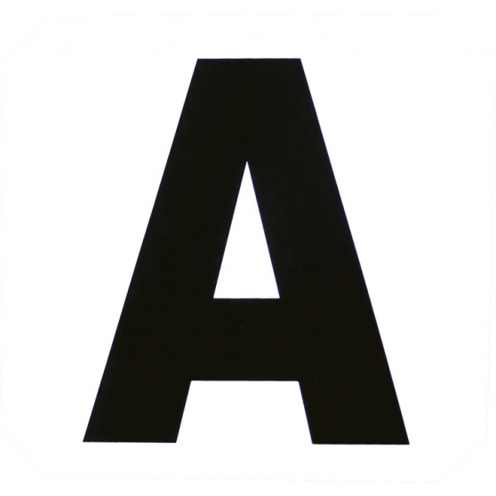 Set de 12 lettres de manège Hippo-Tonic autocollantes