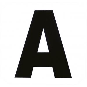 Set de 12 lettres de manège autocollantes
