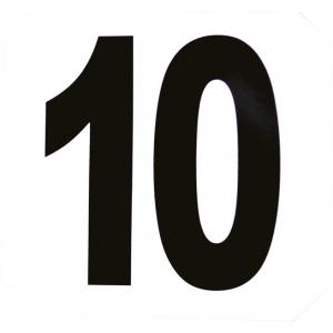 Set van 12 hindernis nummers stickers
