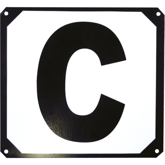 Set de 12 lettres de manège Hippo-Tonic support métallique