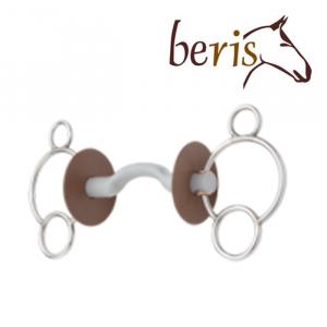 Mors réglable Beris 3 anneaux à passage de langue
