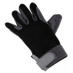Cotton gloves, rubberized palm - Kid