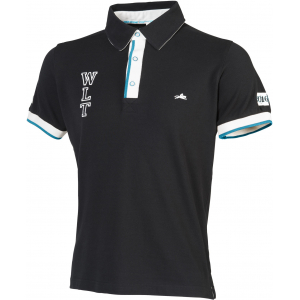 "EQUITHÈME ""CSI 5* WLT"" fine pique cotton polo shirt, short sleeves"
