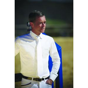 EQUITHÈME langärmeliges Baumwoll-Turnierhemd