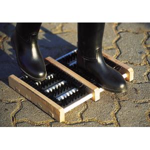 Houten schoenschraper
