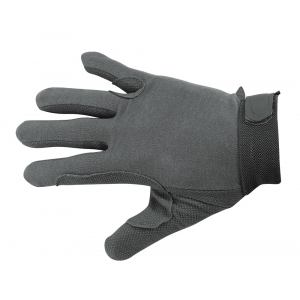 Cotton gloves, rubberized palm