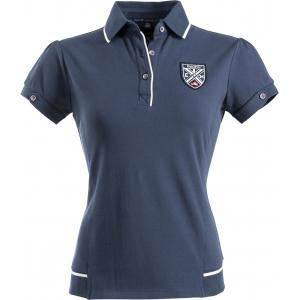 Equit'M E.L. fijn piqué katoen polo shirt, korte mouwen