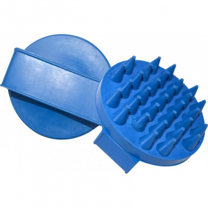 Round currycomb, large prongs