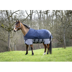 "EQUITHEME ""TYREX 600 D"" Turnout rug with belly belt"