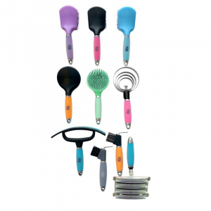 "HIPPO-TONIC ""Gel"" round metallic curry comb"