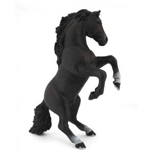 PAPO Black rearing horse