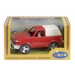 PAPO 4X4 off road vehicle and driver