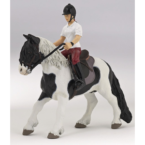 Pony mit Sattel und Trense PAPO