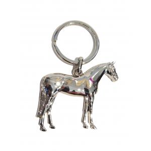 3D paarden sleutelhanger, zilverkleurig