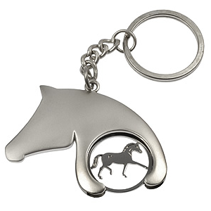 Horse head trolley coin/key-ring