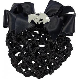 Haarnetz mit Schleife und Brosche