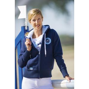 """EQUI-THÈME """"Jeux Equestres Mondiaux FEI Alltech™ 2014 en Normandie"""" hooded bomber"""