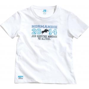 """Tee-shirt coton EQUI-THÈME """"Jeux Equestres Mondiaux FEI Alltech™ 2014 en Normandie"""""""