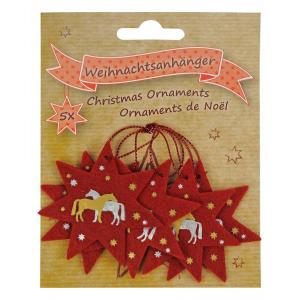 Filten kerst versieringen Paarden