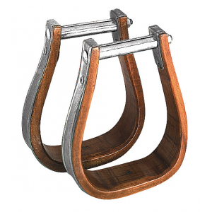 Wood/metal western stirrups