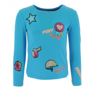 T-shirt Equi-Kids Pony Love Badges - Enfant