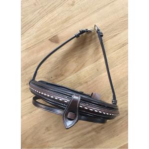 Pénélope medium noseband with saddle stitching