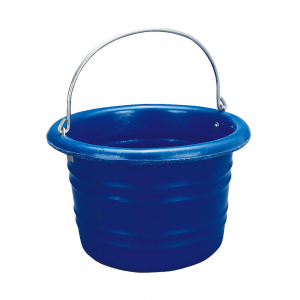 Blue plastic Bucket, with handle