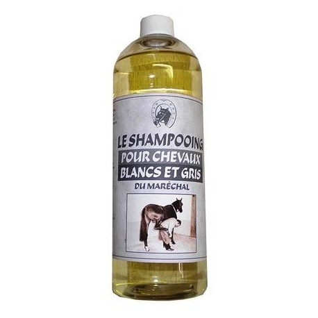 Shampoing du Maréchal pour Chevaux blancs et gris