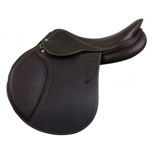 Eric Thomas grained leather saddle