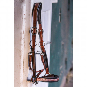 Pénélope Point Sellier Leather halter