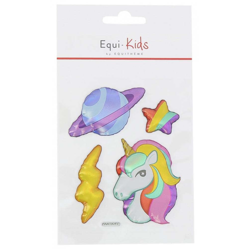 Stickers Equi-Kids Relief Licorne + Planète