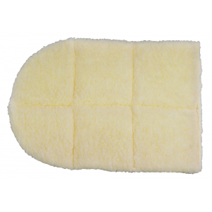 Back pad, synthetic fur fleece