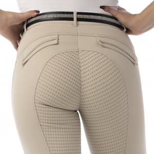 Pantalon EQUITHÈME Micro Fond Silicone - Femme