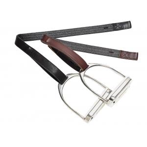 Bates Leather/synthetic stirrup leathers with hooks