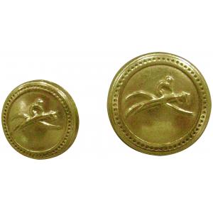 EQUITHÈME goldfarbener Knopf, kleines Modell